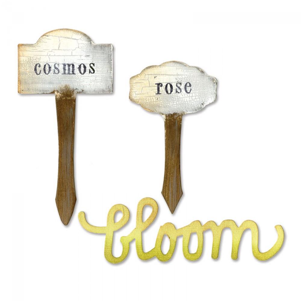 Foto de Sizzix Bigz Die - Phrase, Bloom & Plant Markers