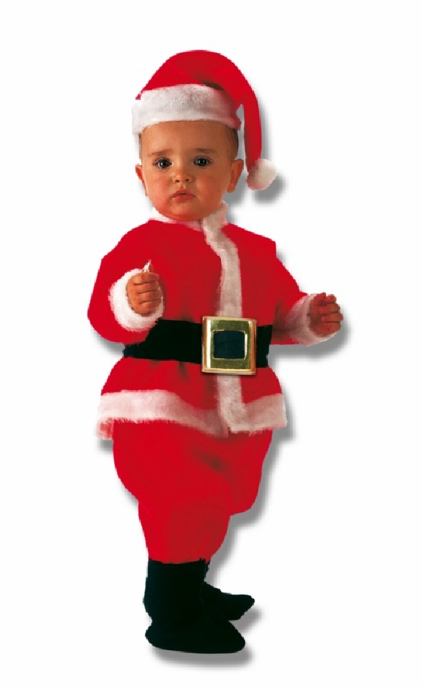 Foto de Disfraz de Papa Noel bebe